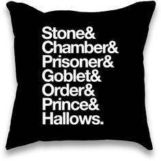 Stone Chamber Prisoner Helvetica Throw Pillow (1.515 RUB) ❤ liked on Polyvore featuring home, home decor, throw pillows, harry potter, pillows, quote throw pillows and stone home decor