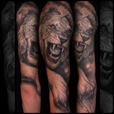 Realistic Lion Tattoo
