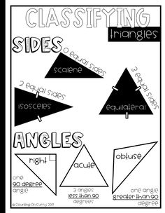 Here's a handy anchor chart for keeping track of triangles