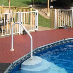 Deck Fence To Fit In With House Exterior Composite Pool
