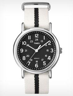 Weekender slip thru watch ($45) by Timex, timex.com   - Esquire.com