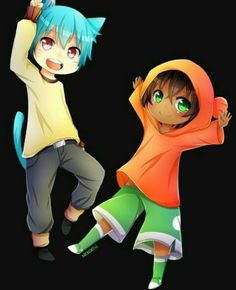 Amazing World Of Gumball. (Anime version) gumball and darwin Anime Vs Cartoon, Cartoon Fan, Cartoon Memes, Cartoon Shows, Anime Chibi, Kawaii Anime, Cartoons, Kawaii Art, Fanart