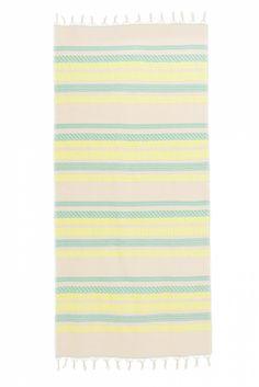 Devotion Damen Strandtuch Gelb/Blau | SAILERstyle Outdoor Blanket, Ladies Day Dresses, Yellow, Blue, Cotton