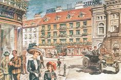 Post card of Hotel Stefanie round 1900 Hotel Stefanie, Vienna Hotel, Four Hundred, Post Card, 4 Star Hotels, Picture Video, Nostalgia, Places To Visit, History