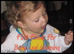 Baby Led Weaning First Food Suggestions