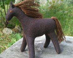 Natural toys wool felt animals role play Waldorf eco by Felthorses Toys For Girls, Gifts For Girls, Felt Gifts, Brown Horse, Natural Toys, Waldorf Toys, Felt Patterns, Pattern And Decoration, Felt Animals