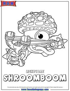 Skylanders Giants Life Lightcore Shroomboom Coloring Page