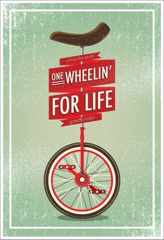 Unicycle Print by BigfootCreative on Etsy, $20.00