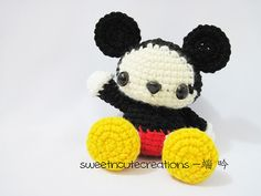 Baby Mickey Mouse Amigurumi Pattern