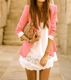 love this blazer and dress combination.