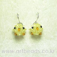 ▒ 아트 비즈 - 비즈 공예 전문점 ▒ 비즈 공예 재료, 비즈 공예 도안, Bricolaje, chicken earrings Diy Jewelry, Beaded Jewelry, Jewelry Design, Jewelry Making, Jewellery, Beaded Animals, Beaded Ornaments, Beading Projects, Beads And Wire