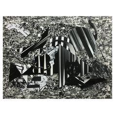 samatoneko, 2015 (cutout photo collage, ink)