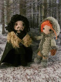 Jon Snow and Ygritte (Game of thrones) amigurumi Moñacos, cosicas y meriendacenas