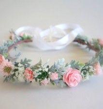 Pink Flower Crown, Flower Girl Crown, Flower Crown, Boho Wedding, Head Wreath, Pink Wedding, Bridal Headdress, Summer Wedding1