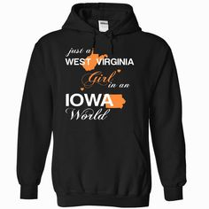 (WVJustCam002) Just A West Virginia Girl In A Iowa World, Order HERE ==> https://www.sunfrog.com/Valentines/-28WVJustCam002-29-Just-A-West-Virginia-Girl-In-A-Iowa-World-Black-Hoodie.html?id=47756 #christmasgifts #xmasgifts #westvirginia