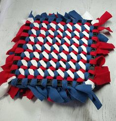 Our snuffle mats are perfect for nose work, rooting exercises, slowing down fast eaters. They are made from over 150 strips of fleece and heavy duty industrial rubber mat. Each strip is hand tied to create a maze of places for treats and kibble to hide. Little nooks for your pup to
