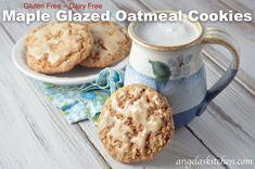 Gluten Free Dairy Free Maple Glazed Oatmeal Cookies