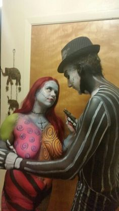 Jack from Nightmare before Christmas face and body paint by Sarah ...