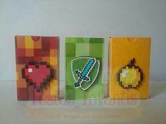 Caixa para Tic Tac personalizado com o tema MineCraft by Oliver Festas Infantis
