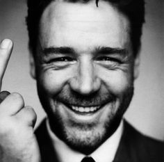 Russell Crowe-great picture of this great guy! He is now playing the lead role in the new movie Noah.