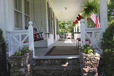 Farmhouse front porch.