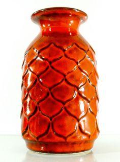 JASBA WEST GERMAN POTTERY ceramic VASE mid century MODERNISTIC RETRO vintage