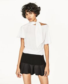 2eb9892e49 Imagen 5 de BLUSA LAZO de Zara Zara United States, Dress To Impress, Bows