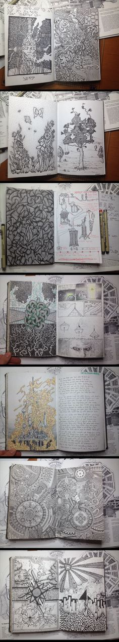 Sketchbook with some of the best drawings ever made... - The Meta Picture