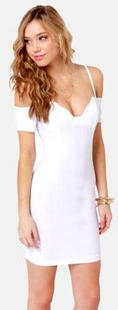 Strappily Ever After Off-the-Shoulder White DressLove it!