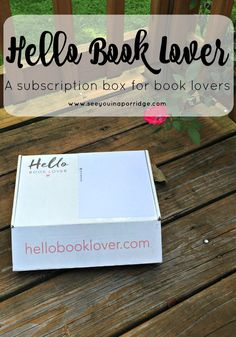 Hello Book Lover - A subscription box for book lovers!