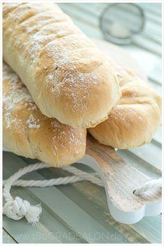 Das schnellste Rezept der Welt für ein frisches Baguette   Recipe fresh and fast Baguette Bread by 180° Salon