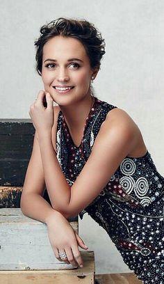 Beautiful smiling Alicia Vikander