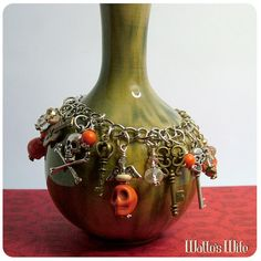 Rock on Zombie Man Halloween Orange Charm Bracelet https://www.etsy.com/listing/112899489/rock-on-zombie-man-halloween-orange #halloween jewelry #halloween #spooky #zombie #sugar skull #skulls #handmade #charm bracelet #guitar #keys #charms #crystals #bling jewelry #creepy