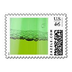 Green Beer Postage Stamp