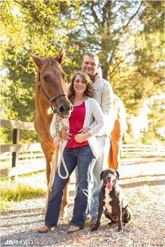 This is going to be a must have, Petey and our horses must be included in engagement photos!!