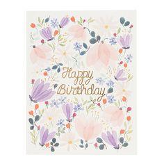 Happy Birthday florals
