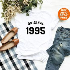 23rd Birthday T Shirt 1995 Funny Gifts Women Teen Ideas Graphic Tees Outfits