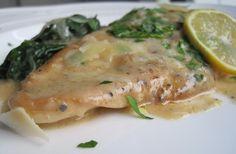 Lemon Chicken Florentine.  (via Karista's Kitchen)