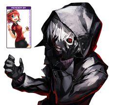 Kaneki Ken [Tokyo Ghoul Render]7176135 by princedork
