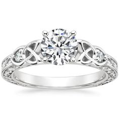 18K White Gold Aberdeen Diamond Ring from Brilliant Earth