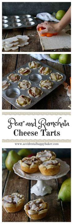 Tart Recipes, Baking Recipes, Snack Recipes, Dessert Recipes, Snacks, Spiced Pear, Cheese Tarts, Pie Dessert, Queso