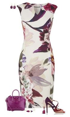 eec4532f304d Roman Originals floral print scuba dress with a chic neck trim and  zip-back. Machine wash at not suitable for dry cleaning.