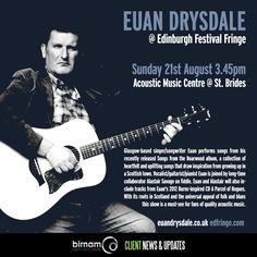 Euan Drysdale plays the Edinburgh Festival Fringe on August 21st. More info & tickets: https://tickets.edfringe.com/whats-on/euan-drysdale-songs-from-the-boarwood