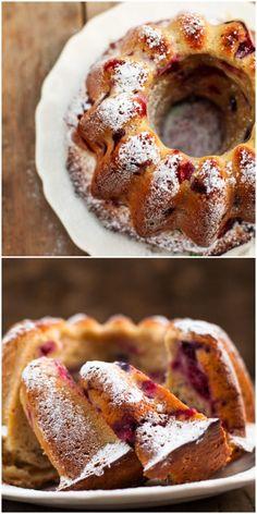 Raspberry Limoncello Bundt Cake