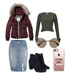 """""""Puffer jacket all the way"""" by the-daily-crafts on Polyvore featuring Abercrombie & Fitch, Calvin Klein, Miss Selfridge, Monsoon, Fendi, Casetify, Modest, apostolic, pentecostal and pufferjacket"""