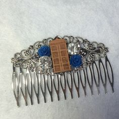 Doctor Who Wedding Hair Comb Geek Nerd Tardis by ShaesBridal on Etsy https://www.etsy.com/listing/239308871/doctor-who-wedding-hair-comb-geek-nerd