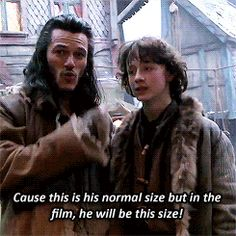 Luke Evans as Bard, behind the scenes on The Hobbit: Desolation of Smaug