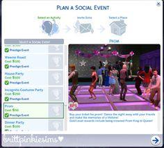 New Event: Prom Mod << Brittpinkiesims