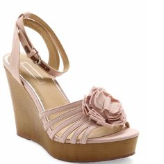 """🎉HP Best in 👠 8/2🎉 Raina Platform Sandal Brand new never worn. Sizing: True to size.  - Open toe - Multi strap vamp - Fabric floral accent - Adjustable ankle strap - Side buckle closure - Wedge heel - Approx. 4"""" heel, 1"""" platform - Imported Materials: Manmade upper and sole Kensie Shoes Sandals"""