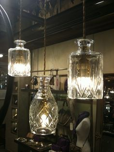 decanter lights and chandelier by lee broom through cafe culture, Möbel